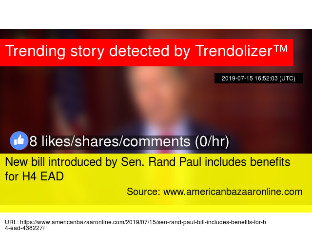 New bill introduced by Sen  Rand Paul includes benefits for